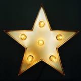 Decorative star with light bulbs. Retro style design Stock Image