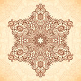 Decorative star mandala in Indian mehndi style Royalty Free Stock Photos