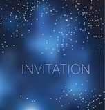 Decorative star night background. Royalty Free Stock Images