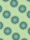 Decorative Star Patterns Blue royalty free illustration