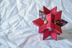 Decorative star of red for children`s room stock images