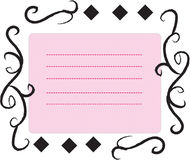 Decorative stationery frame Royalty Free Stock Photography