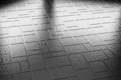 Decorative steel flooring closeup diagonal view Stock Images