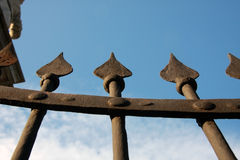 Decorative Steel Gate detail Royalty Free Stock Photo