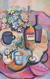 Decorative still-life. The stylised still-life in bright paints Royalty Free Stock Images