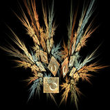 Decorative stocks abstract. Fractal abstract showing plant stocks and square photos Stock Photos