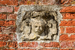 Decorative stone face Royalty Free Stock Image