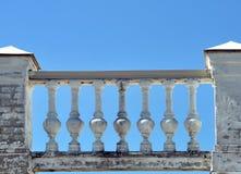 Decorative stone fence Stock Image