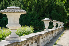 Decorative stone fence in a park in Potsdam Stock Images