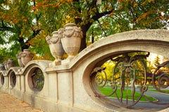 Decorative stone fence Stock Images