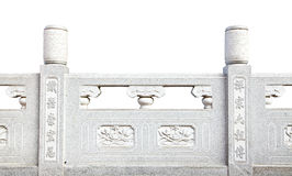 Decorative stone handrail in Chinese style Royalty Free Stock Photography