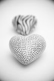 Decorative stone hearts Stock Images