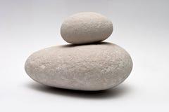 Decorative stone isolated on white studio background - macro shot, shallow depth of field Stock Image