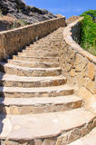Decorative stone ladder on the mountain Royalty Free Stock Images