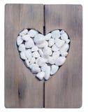Decorative stone love heart Stock Image