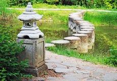 Decorative stone pagoda in green garden Stock Photography