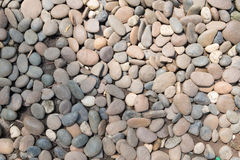 Decorative stone pebble background. round gravel texture garden.  royalty free stock photography