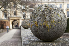 Decorative stone spheres Royalty Free Stock Photo