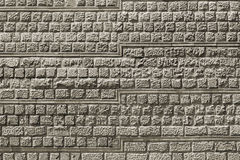 Decorative stone tiles in a wall. Stock Photos