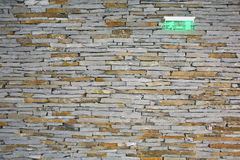 Decorative stone wall. With emergency table stock photo