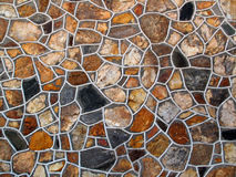 Decorative Stone Wall. A decorative rich textured large area decorated stone wall Stock Photography