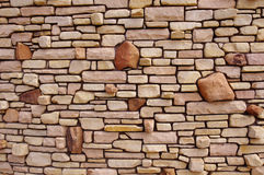 Decorative stone wall Royalty Free Stock Photography