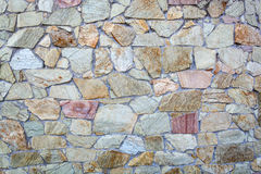 Decorative stone wall textured Royalty Free Stock Image