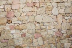 Decorative stone wall textured Stock Photos