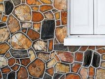 Decorative Stone Wall with Window Stock Photos