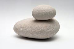 Decorative stone  on white studio background - macro shot, shallow depth of field Royalty Free Stock Image