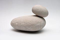 Decorative stone  on white studio background - macro shot, shallow depth of field Stock Image