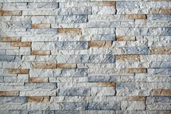 Decorative stones and bricks on the wall Royalty Free Stock Images