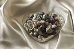 Decorative stones in the heart Stock Image