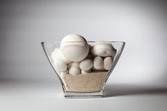 Decorative stones and sand in glassware Royalty Free Stock Photos