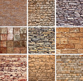 Decorative stones  texture set Stock Images