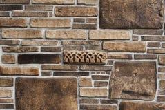 Decorative stones wall Stock Photo