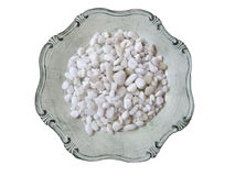 Decorative stones. Decorative white beach stones for home interior Royalty Free Stock Image