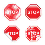 Decorative Stop Signs Stock Image