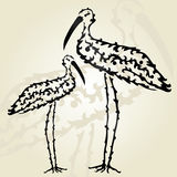 Decorative storks Royalty Free Stock Photography