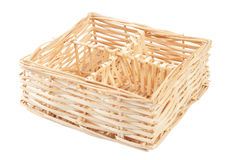 Decorative strawy basket Royalty Free Stock Photos