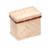 Decorative strawy basket Royalty Free Stock Image