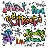 Decorative street graffiti art in various color Stock Photo