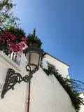 Decorative street lamp in the Benalmadena Pueblo, Malaga, Spain Royalty Free Stock Photos
