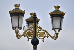 Decorative street lamp royalty free stock photography