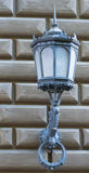 Decorative street lamp in old Riga, Latvia Royalty Free Stock Photo