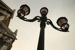 Decorative street lamp in Venice. Stock Photos