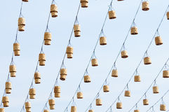 Decorative street lamps. Hanging with Thai-style Royalty Free Stock Photo