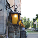 Decorative street lamps Royalty Free Stock Photography