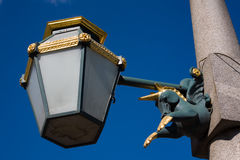Decorative street lantern. In St.-Petersburg close up Stock Photos