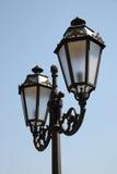 Decorative street lantern. At blue sky Royalty Free Stock Photo